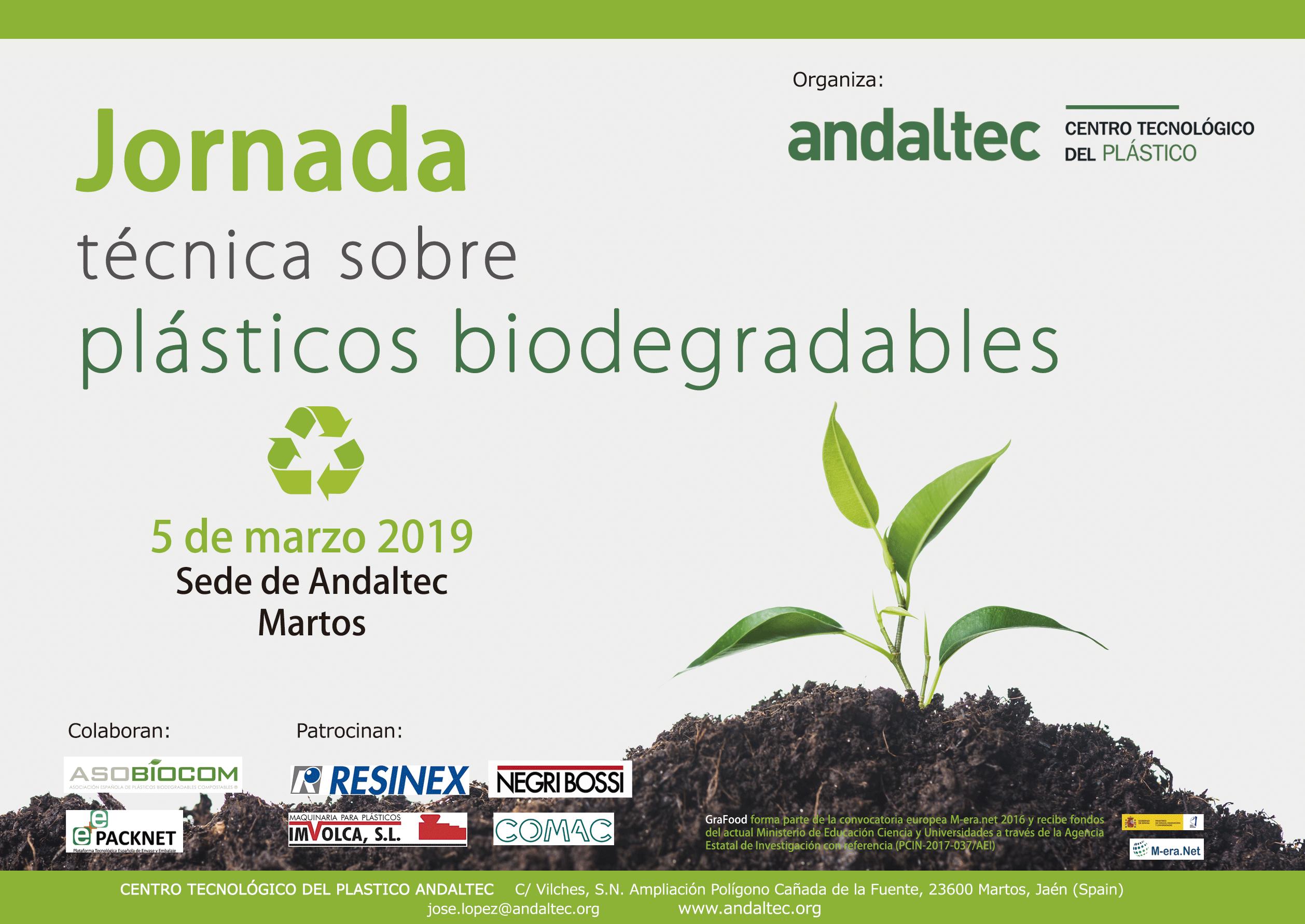 Jornada técnica Andaltec Plástico Biodegradable